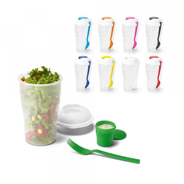 Copo para Salada com Garfo e Molheira