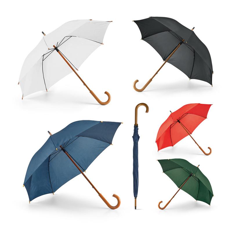 Guarda-chuva com Haste e Pega em Madeira