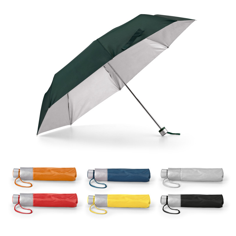 Guarda-chuva em Poliéster Dobrável Interior Cinza