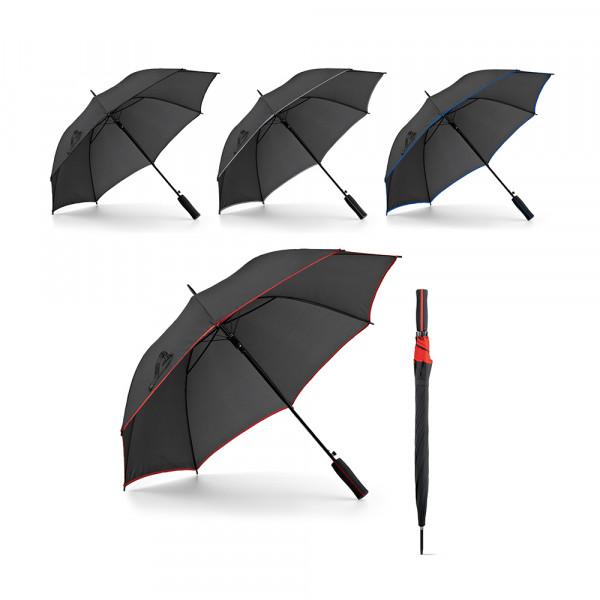 Guarda-chuva em Poliéster com Detalhe em linha colorida