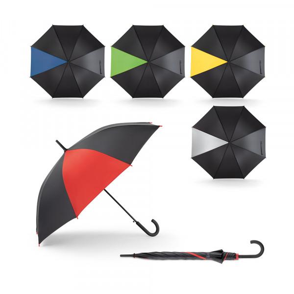 Guarda-chuva em Poliéster e Pega Revestida de Borracha