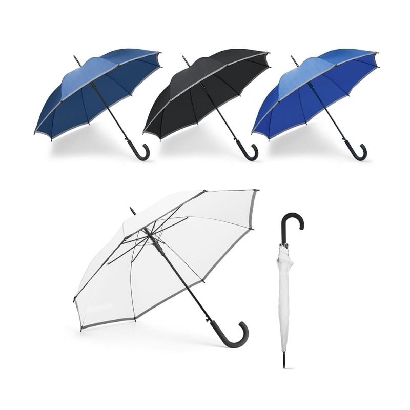 Guarda-chuva em Poliéster e Pega de Borracha