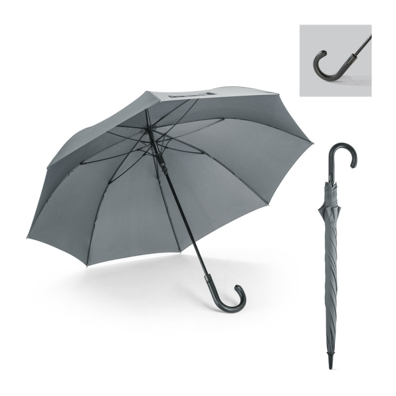 Guarda-chuva com Varetas de Fibra de Vidro e Pega em Couro