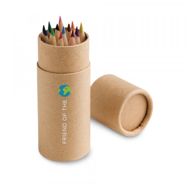 Caixa Lápis de Cor com 12 cores com Estojo