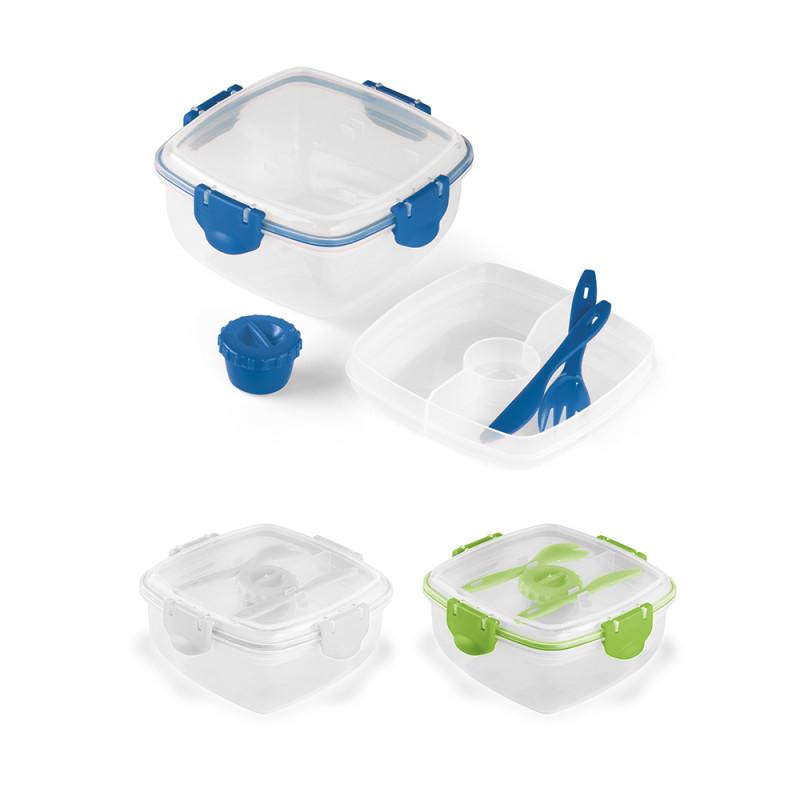 Marmita de Plástico com 3 Compartimentos e Talheres