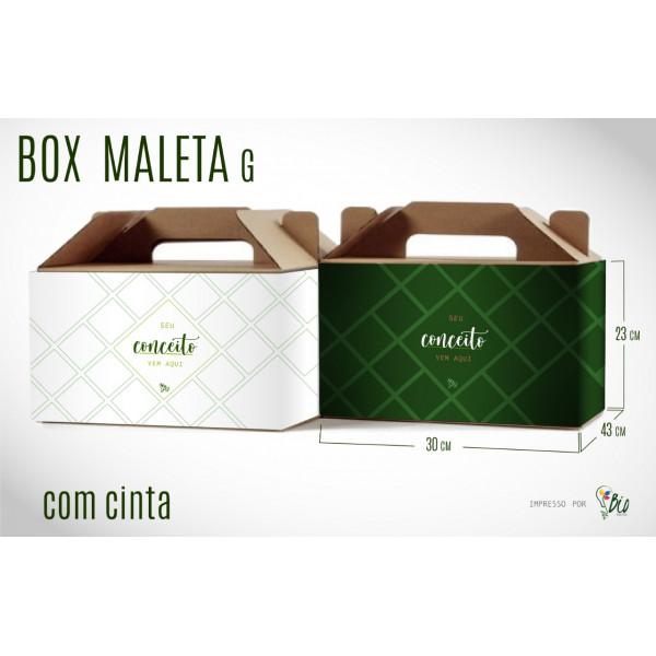 """Caixa de Papelão Maleta + Cinta """"G"""""""