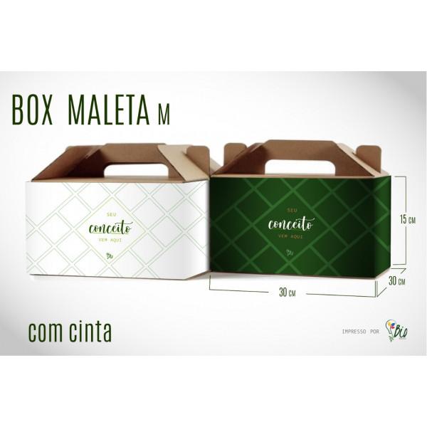 """Caixa de Papelão Maleta + Cinta """"M"""""""