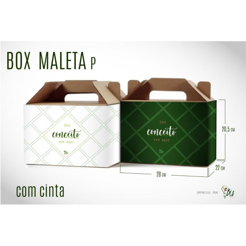 """Caixa de Papelão Maleta + Cinta """"P"""""""