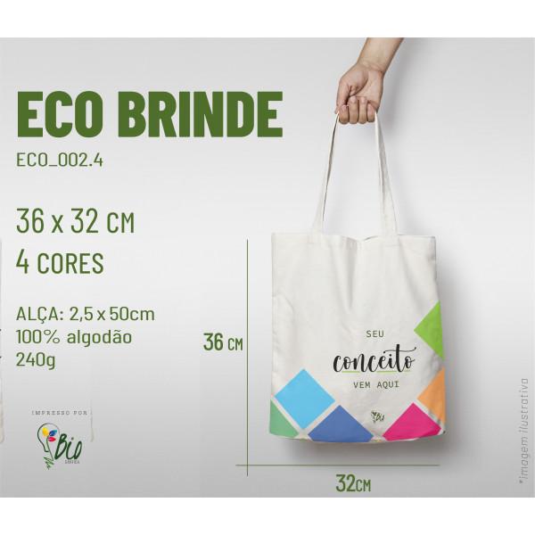 Ecobag Brinde 32x36, 4 cores