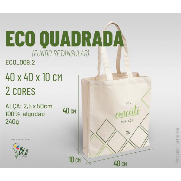 Ecobag Quadrada 40x40x10, 2 cores