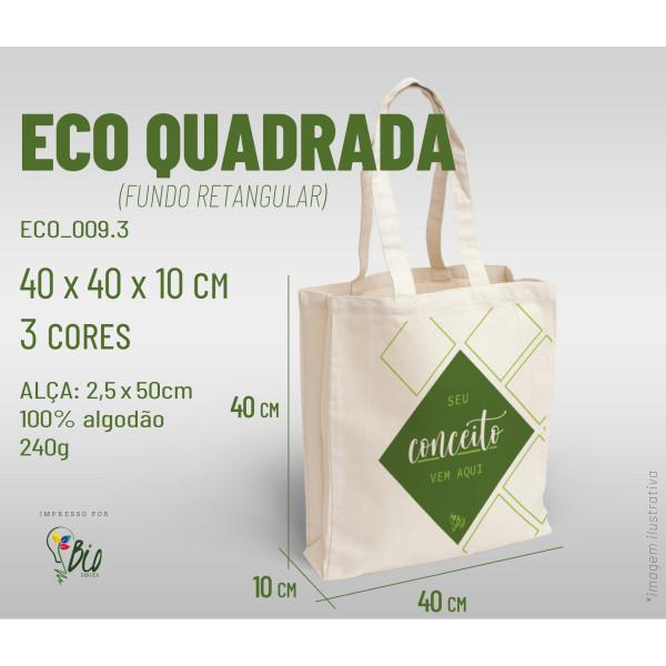 Ecobag Quadrada 40x40x10, 3 cores