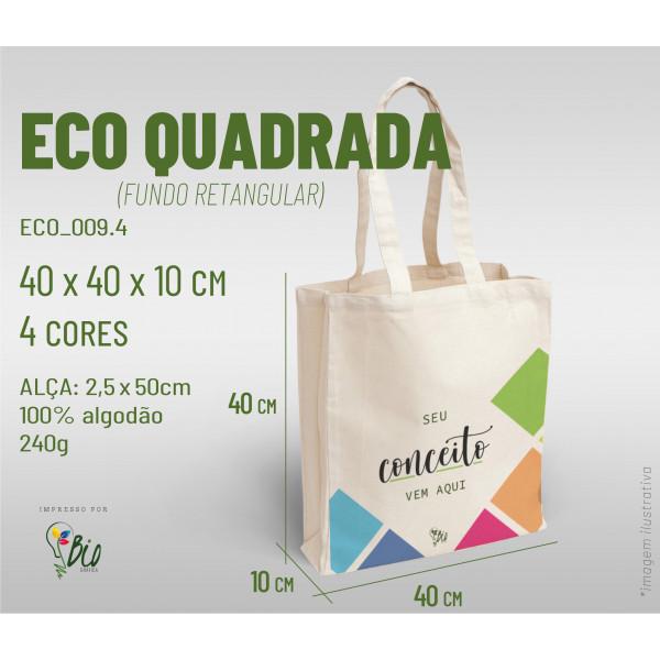 Ecobag Quadrada 40x40x10, 4 cores