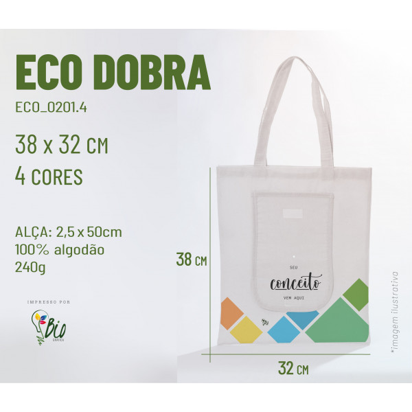 Ecobag Dobra 42x38, 4 cores