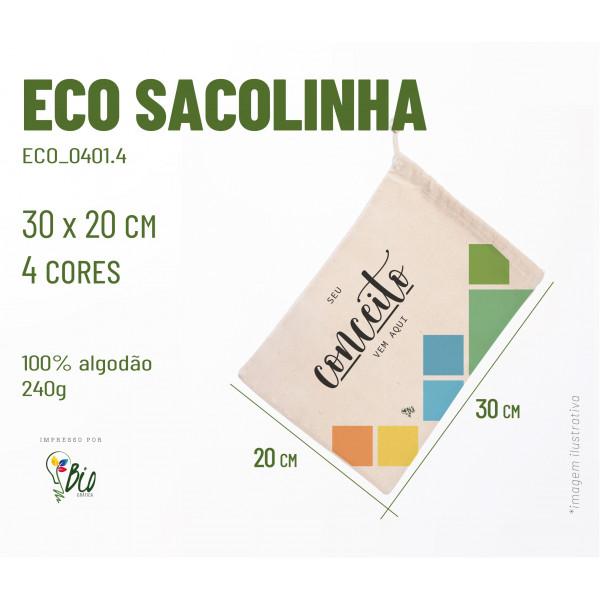 Ecobag Sacolinha 20x30, 4 cores