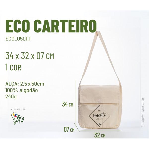 Ecobag Carteiro 32x34x07, 1 cor