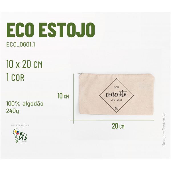 Eco Estojo 20x10, 1 cor