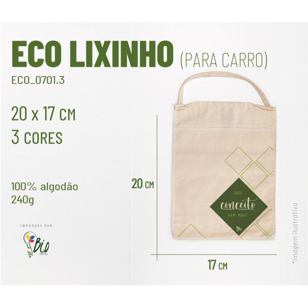 Ecobag Lixinho Carro 17x20, 3 cores