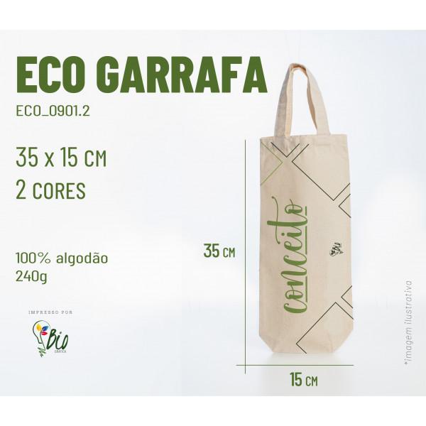 Ecobag Garrafa 15x35, 2 cores