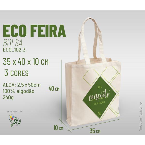 Ecobag Feira 30x40x10, 3 cores