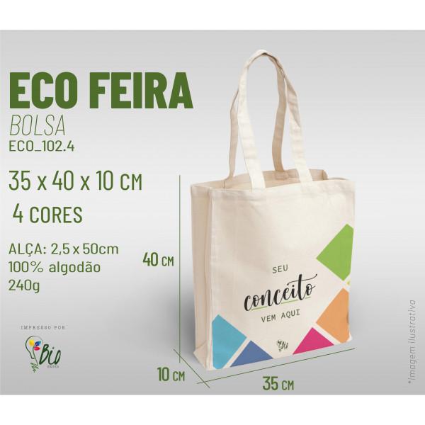 Ecobag Feira 30x40x10, 4 cores