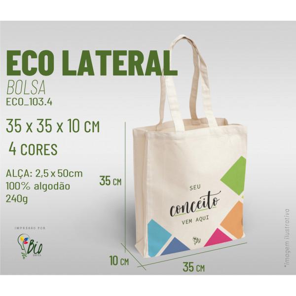 Ecobag Lateral 35x35x10, 4 cores