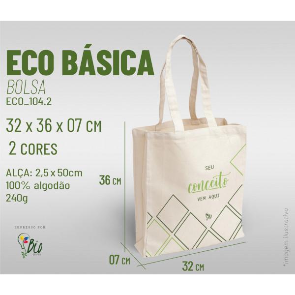 Ecobag Básica 32x36x07, 2 cores