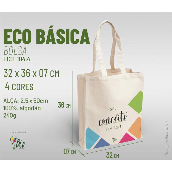 Ecobag Básica 32x36x07, 4 cores