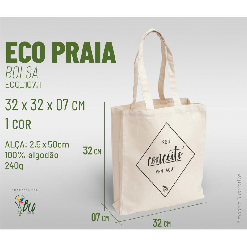 Ecobag Praia 32x32x07, 1 cor