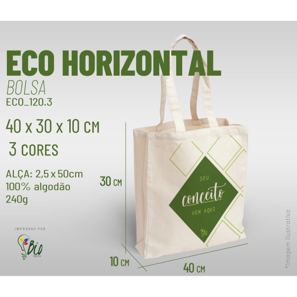 Ecobag Horizontal 40x30x10, 3 cores