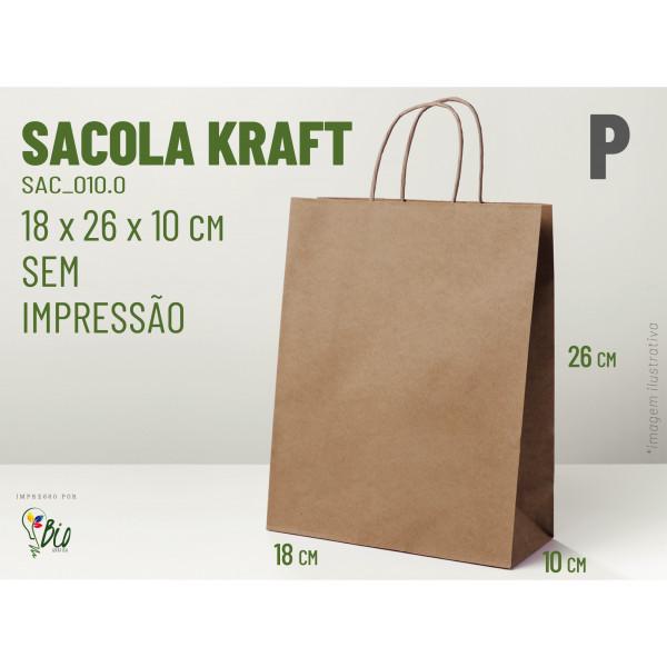 "Sacola Kraft ""P"" - Sem Impressão"