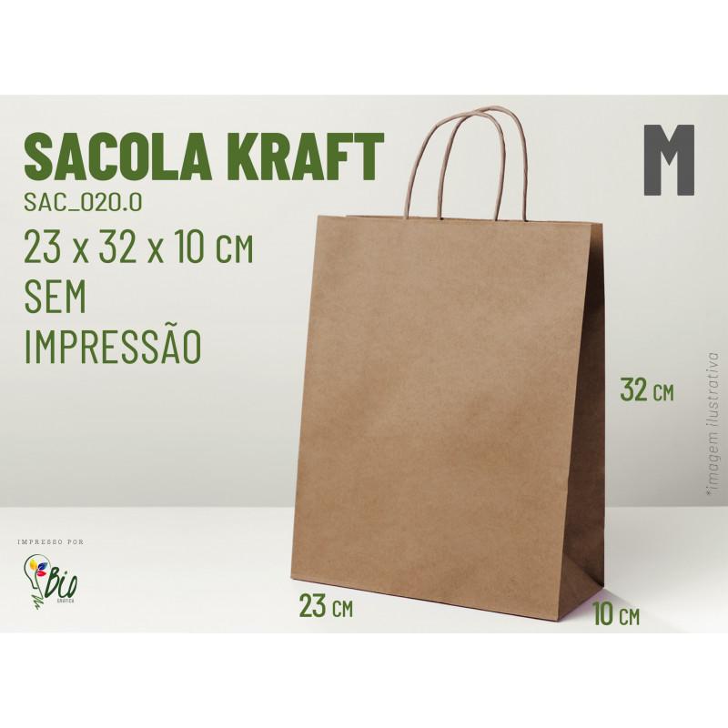 "Sacola Kraft ""M"" - Sem Impressão"