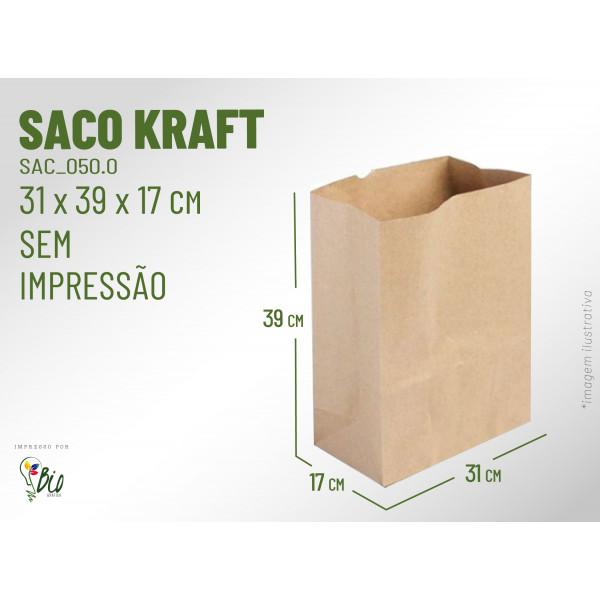 Saco Kraft Delivery - Sem Impressão