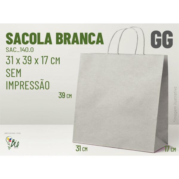 """Sacola Branca """"GG"""" - Sem Impressão"""