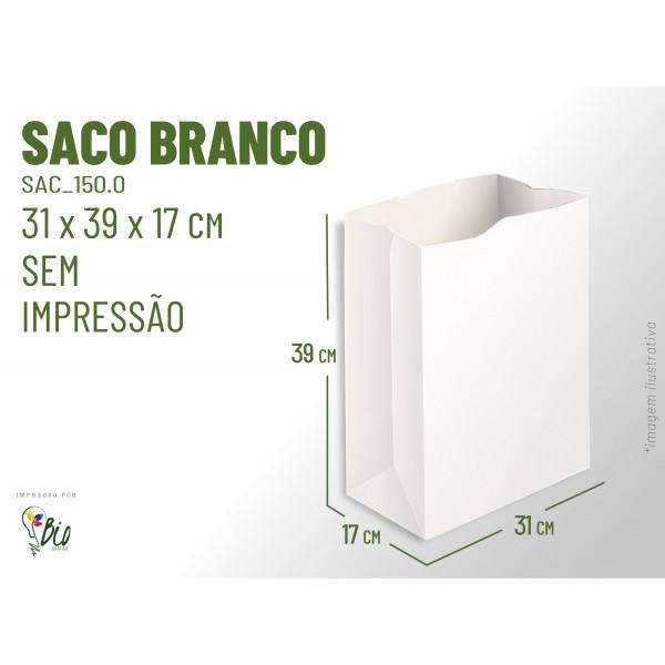 Saco Branco Delivery - Sem Impressão